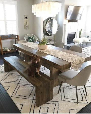 Awesome mid century modern dining room table decor ideas 09
