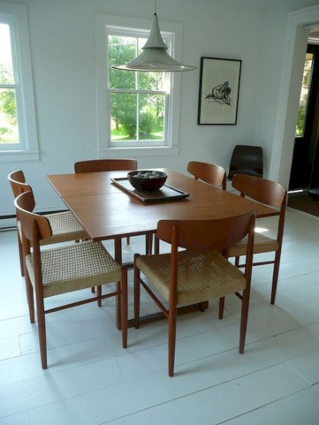 Awesome mid century modern dining room table decor ideas 14