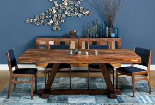 Awesome mid century modern dining room table decor ideas 16
