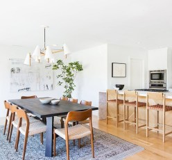 Awesome mid century modern dining room table decor ideas 19