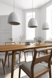 Awesome mid century modern dining room table decor ideas 24
