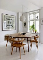 Awesome mid century modern dining room table decor ideas 32