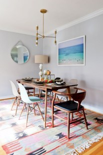 Awesome mid century modern dining room table decor ideas 37