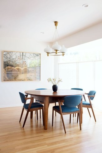 Awesome mid century modern dining room table decor ideas 45