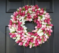 Awesome valentine wreaths ideas for your front door 24