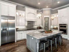 Beautiful gray kitchen cabinet design ideas 10
