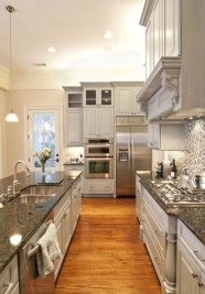 Beautiful gray kitchen cabinet design ideas 19