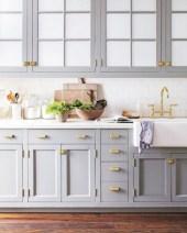 Beautiful gray kitchen cabinet design ideas 22