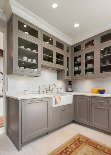 Beautiful gray kitchen cabinet design ideas 26