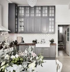 Beautiful gray kitchen cabinet design ideas 32