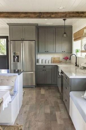 Beautiful gray kitchen cabinet design ideas 34