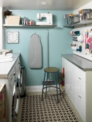 Brilliant small laundry room storage organization ideas on a budget 03