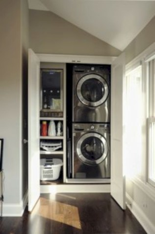 Brilliant small laundry room storage organization ideas on a budget 12
