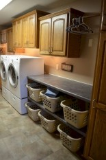 Brilliant small laundry room storage organization ideas on a budget 25