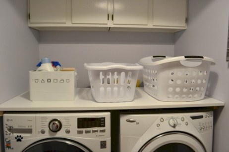 Brilliant small laundry room storage organization ideas on a budget 38