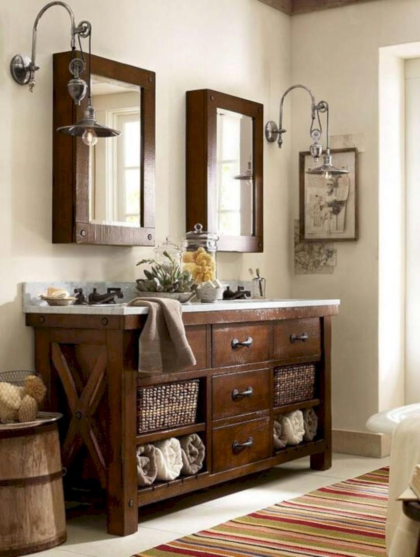 Captivating small farmhouse bathrooms decoration ideas (4)