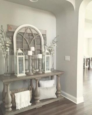 Catchy farmhouse rustic entryway decor ideas 10