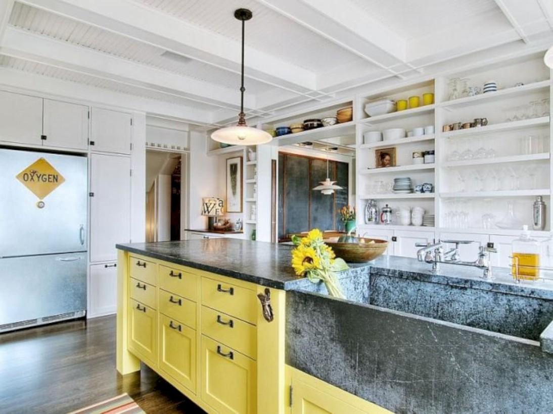 Classic shabby chic vintage kitchens design decor (12)