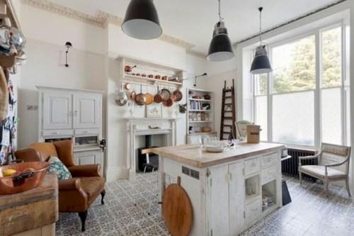 Classic shabby chic vintage kitchens design decor (16)