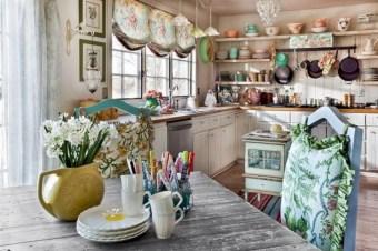 Classic shabby chic vintage kitchens design decor (29)