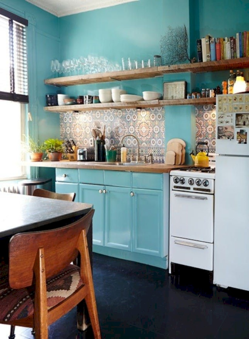 Classic shabby chic vintage kitchens design decor (34)