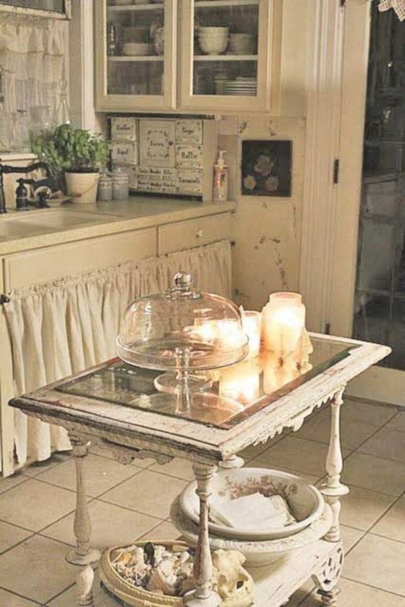 Classic shabby chic vintage kitchens design decor (40)