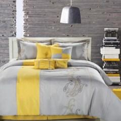 Comfy grey yellow bedrooms decorating ideas (4)