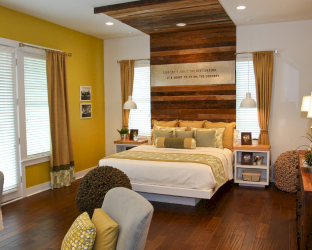 Comfy grey yellow bedrooms decorating ideas (8)