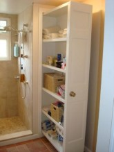 Cool bathroom storage shelves organization ideas 02