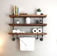 Cool bathroom storage shelves organization ideas 11
