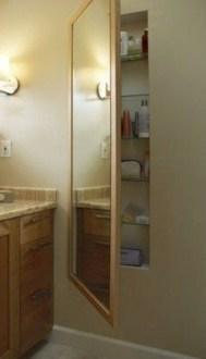 Cool bathroom storage shelves organization ideas 19