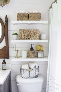 Cool bathroom storage shelves organization ideas 20