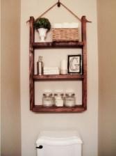 Cool bathroom storage shelves organization ideas 21