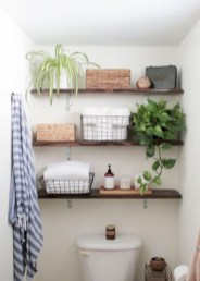 Cool bathroom storage shelves organization ideas 22