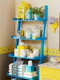 Cool bathroom storage shelves organization ideas 24