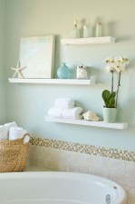 Cool bathroom storage shelves organization ideas 36