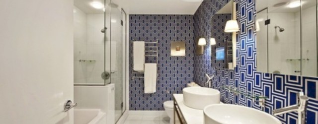 Cool modern geometric concept bathroom designs ideas (13)