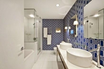 Cool modern geometric concept bathroom designs ideas (13)