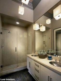 Cool modern geometric concept bathroom designs ideas (20)