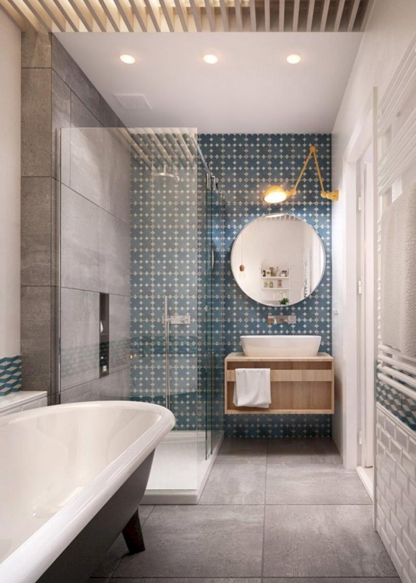 Cool modern geometric concept bathroom designs ideas (33)