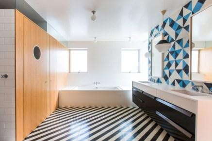 Cool modern geometric concept bathroom designs ideas (44)