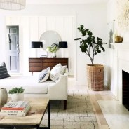Cozy apartment living room black and white style inspirations ideas 10