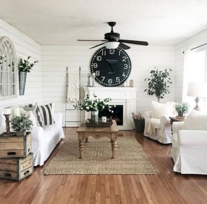 Cozy apartment living room black and white style inspirations ideas 28