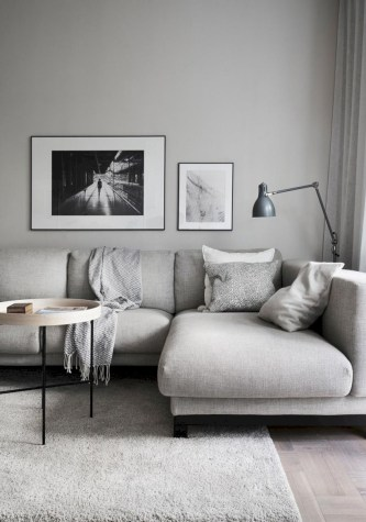 Cozy apartment living room black and white style inspirations ideas 31