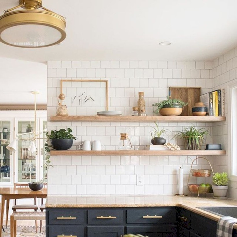33 Creative Kitchen Open Shelves Ideas On A Budget Roundecor