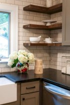 Creative kitchen open shelves ideas on a budget 10