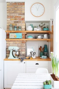 Creative kitchen open shelves ideas on a budget 20