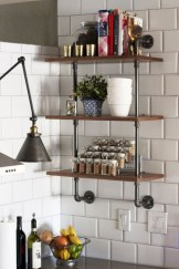 Creative kitchen open shelves ideas on a budget 25