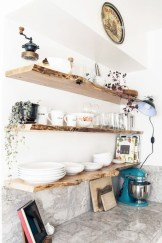 Creative kitchen open shelves ideas on a budget 30
