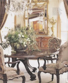 Fancy french country dining room table decor ideas 06